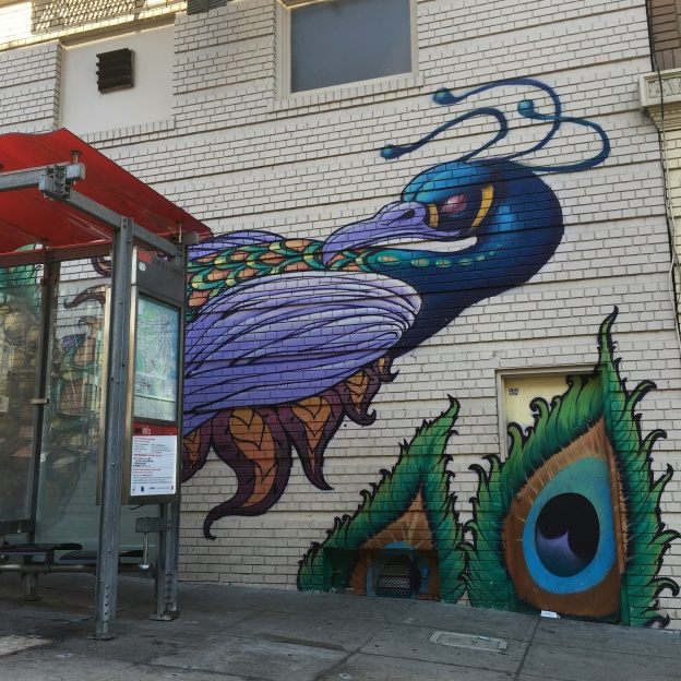 Peacock mural, San Francisco