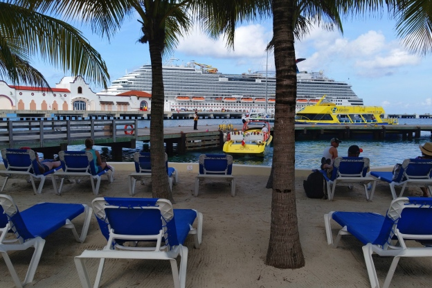 The Carnival Breeze at Carnival Port