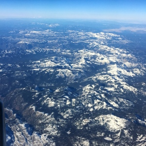 Flying over the Sierra Nevada