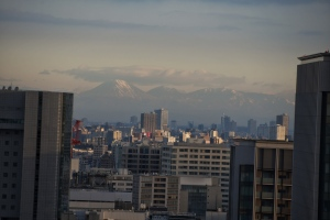 Mt. Fuji? As seen from Capitol Hotel Tokyu