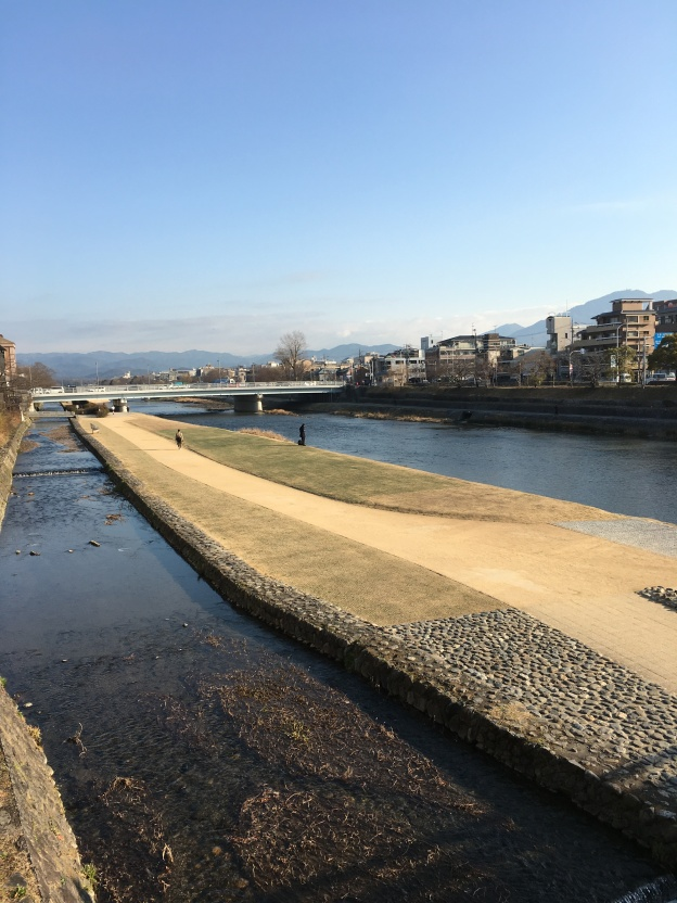 Early morning view from Sanjo Bridge, Kyoto
